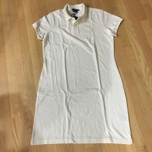 Ralph Lauren off-white cotton polo dress